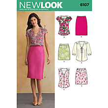 Buy New Look Women's Tops & Skirts Sewing Patterns, 6107 Online at johnlewis.com