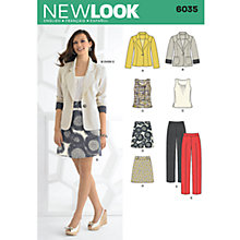 Buy New Look Women's Outfits Sewing Patterns, 6035 Online at johnlewis.com