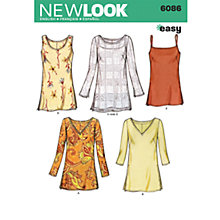 Buy Simplicity New Look Tops Dressmaking Leaflet, 6086 Online at johnlewis.com