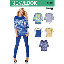 Buy Simplicity New Look Tops Dressmaking Leaflet, 6148 Online at johnlewis.com