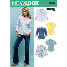 Buy New Look Women's Tops Sewing Patterns, 6407 Online at johnlewis.com