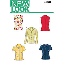 Buy New Look Women's Blouses Sewing Patterns, 6598 Online at johnlewis.com
