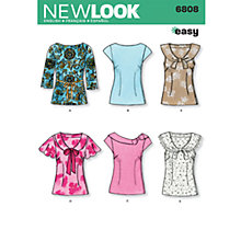 Buy New Look Women's Tops Sewing Patterns, 6808 Online at johnlewis.com