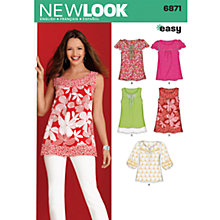 Buy New Look Women's Tops Sewing Patterns, 6871 Online at johnlewis.com