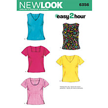 Buy Simplicity New Look Tops Dressmaking Leaflet, 6356 Online at johnlewis.com