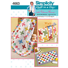 Buy Simplicity Quilt in a Day Craft Sewing Pattern, 4663 Online at johnlewis.com