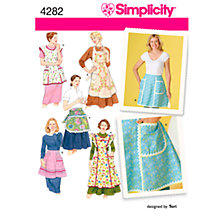 Buy Simplicity Vintage Aprons Sewing Pattern, 4282, A Online at johnlewis.com