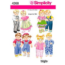 Buy Simplicity Doll Clothes Sewing Pattern, 4268 Online at johnlewis.com