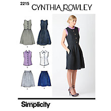 Buy Simplicity Cynthia Rowley Dresses Dressmaking Leaflet, 2215 Online at johnlewis.com