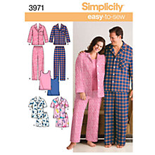 Buy Simplicity Easy to Sew Plus Size Nightwear Dressmaking Leaflet, 3971 Online at johnlewis.com