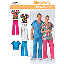 Buy Simplicity Easy to Sew Scrubs Sewing Leaflet, 4378, AA Online at johnlewis.com