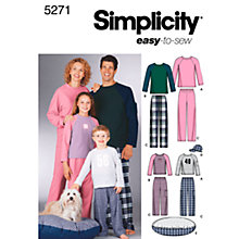 Buy Simplicity Easy to Sew Nightwear Dressmaking Leaflet, 5271, A Online at johnlewis.com