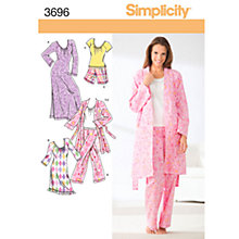 Buy Simplicity Nightwear Sewing Leaflet, 3696 Online at johnlewis.com