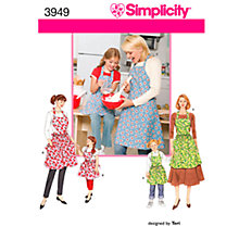 Buy Simplicity Aprons Sewing Pattern, 3949, A Online at johnlewis.com