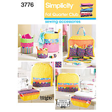 Buy Simplicity Fat Quarter Club Craft Sewing Pattern, 3776 Online at johnlewis.com