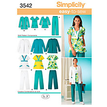 Buy Simplicity Easy to Sew Plus Size Scrubs Sewing Leaflet, 3542, AA Online at johnlewis.com