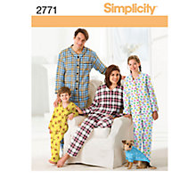 Buy Simplicity Nightwear Sewing Leaflet, 2771, A Online at johnlewis.com