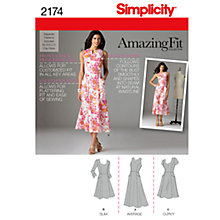 Buy Simplicity Amazing Fit Dresses Dressmaking Leafet, 2174 Online at johnlewis.com