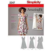 Buy Simplicity Amazing Fit Dresses Dressmaking Leaflet, 2247 Online at johnlewis.com