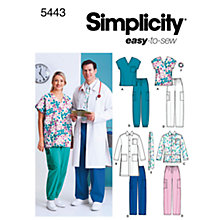 Buy Simplicity Easy to Sew Plus Size Scrubs Sewing Leaflet, 5443, AA Online at johnlewis.com