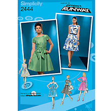 Buy Simplicity Project Runway Dresses Dressmaking Leaflet, 2444 Online at johnlewis.com