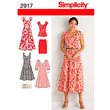 Buy Simplicity Women's Dress Sewing Pattern, 2917 Online at johnlewis.com