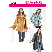 Buy Simplicity Jackets Sewing Pattern, 2208, A Online at johnlewis.com