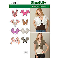 Buy Simplicity Easy to Sew Vest or Jacket Sewing Leaflet, 2183, U5 Online at johnlewis.com