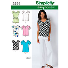 Buy Simplicity Tops Sewing Leaflet, 2594, K5 Online at johnlewis.com