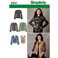 Buy Simplicity Jackets Sewing Leaflet, 2341, U5 Online at johnlewis.com