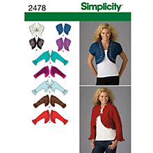 Buy Simplicity Jackets Dressmaking Leaflet, 2478, U5 Online at johnlewis.com