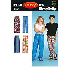 Buy Simplicity It's So Easy Girls' & Boys' Sleepwear Sewing Leaflet, 2052, A Online at johnlewis.com