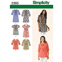 Buy Simplicity Tunic Top Sewing Leaflet, 2365, U5 Online at johnlewis.com