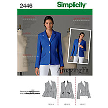 Buy Simplicity Amazing Fit Jacket Dressmaking Leaflet, 2446, U5 Online at johnlewis.com