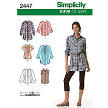 Buy Simplicity Easy to Sew Tops Sewing Leaflet, 2447, U5 Online at johnlewis.com