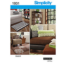 Buy Simplicity Rug and Cushions Sewing Pattern, 1931 Online at johnlewis.com