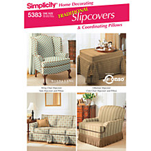 Buy Simplicity Traditional Slipcovers Sewing Leaflet, 5383 Online at johnlewis.com