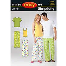 Buy Simplicity It's So Easy Nightwear Dressmaking Leaflet, 2116, A Online at johnlewis.com