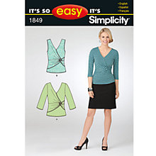 Buy Simplicity It's So Easy Tops Dressmaking Leaflet, 1849, A Online at johnlewis.com