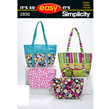 Buy Simplicity It's So Easy Bags Sewing Leaflet, 2830 Online at johnlewis.com