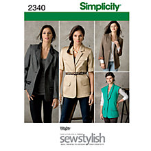 Buy Simplicity Misses' & Miss Petite Jackets Sewing Leaflet, 2340, H5 Online at johnlewis.com