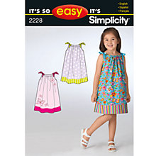 Buy Simplicity It's So Easy Children Dressmaking Leaflet, 2228, A Online at johnlewis.com