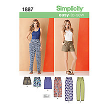 Buy Simplicity Shorts, Trousers & Skirts Sewing Pattern, 1887 Online at johnlewis.com