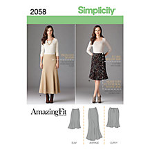 Buy Simplicity Amazing Fit Womens' Skirts Sewing Pattern, 2058 Online at johnlewis.com