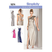 Buy Simplicity Jessica McClintock Occasion Dresses Sewing Pattern, 1874 Online at johnlewis.com