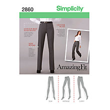 Buy Simplicity Amazing Fit Collection Trousers Dressmaking Leaflet, 2860 Online at johnlewis.com