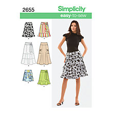 Buy Simplicity Easy-to-Sew Skirts Dressmaking Leaflet, 2655 Online at johnlewis.com