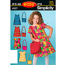 Buy Simplicity It's So Easy Children's Dress & Bag Sewing Leaflet, 4927, A Online at johnlewis.com