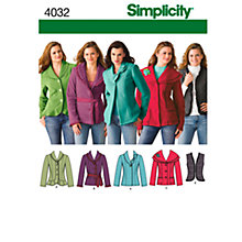 Buy Simplicity Jackets & Vests Sewing Leaflet, 4032, K5 Online at johnlewis.com