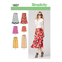 Buy Simplicity Skirts & Trousers Sewing Pattern, 1807 Online at johnlewis.com